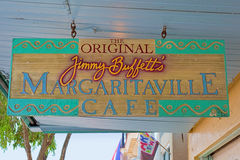 El café de Margaritaville del Jimmy Buffett original Fotos de archivo