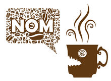 El café dice NOM Imagen de archivo libre de regalías