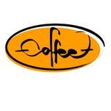 El café escrito, ejemplo del texto del vector Foto de archivo