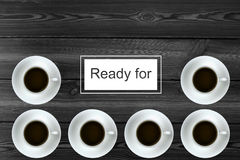 El café está listo Imagen de archivo libre de regalías