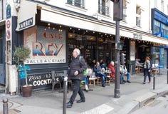 El café francés tradicional Rey, París, Francia Fotos de archivo