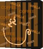 El café inspiró el gráfico Fotos de archivo