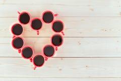 El café le hace concepto feliz Fotos de archivo libres de regalías