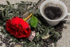 El café subió Imagenes de archivo