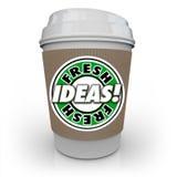 El cafeína de la taza de café de las ideas frescas aprovisiona de combustible la imaginación de la creatividad nueva Fotografía de archivo libre de regalías