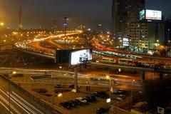 El Cairo en la noche Fotos de archivo libres de regalías