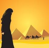 El Cairo y mujer Foto de archivo