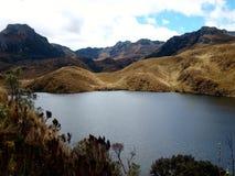 EL Cajas Equador do parque nacional imagens de stock