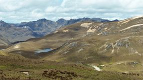 El Cajas National Park, close to Mirador Tres Cruces, Ecuador stock photo