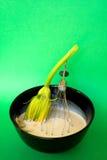 El calabacín frito florece la preparación Fotografía de archivo