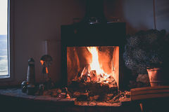 EL CALAFATE, ARGENTINA: Fireplace on a cold day. In the afternoon Royalty Free Stock Image