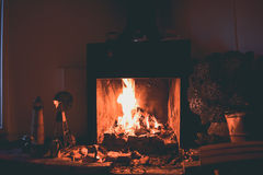 EL CALAFATE, ARGENTINA: Fireplace on a cold day. In the afternoon Stock Images