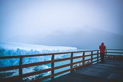 EL CALAFATE, ARGENTINA: Geleira de Perito Moreno, EL Calafate, Argentina 2015 Fotografia de Stock