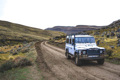 EL CALAFATE, ARGENTINA: Offroad in argentina patagonia. With a white car Royalty Free Stock Image