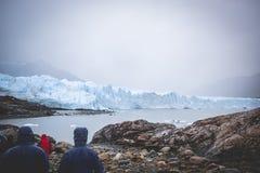 EL CALAFATE, ARGENTINA: Perito Moreno glaciär, El Calafate, Argentina 2015 Arkivbilder