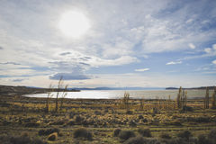 EL CALAFATE, ARGENTINA: Viaggio a Patagonia argentina in autunno tardo Fotografia Stock Libera da Diritti