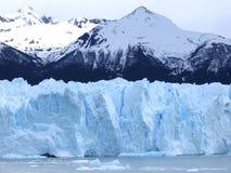El Calafate Glaciers. Glaciers and mountains in El Calafate in Argentina royalty free stock images