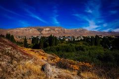 El Calafate. La magnifique ville d`El Calafate, Patagonie stock image