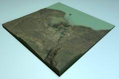 EL Calafate, vue satellite, Patagonia, Argentine Image stock