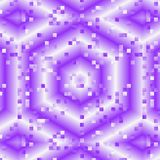 El caleidoscopio abstracto del fractal en púrpura y violeta en colores pastel, lluvia del efecto cae en fondo hexagonal Foto de archivo
