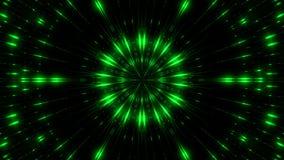 El caleidoscopio de luces, fondo abstracto moderno generado por ordenador, 3d rinde ilustración del vector
