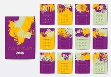 El calendario 2018 Imágenes de archivo libres de regalías