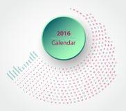 El calendario 2016 Imagen de archivo libre de regalías