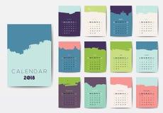 El calendario 2018 Imagen de archivo libre de regalías