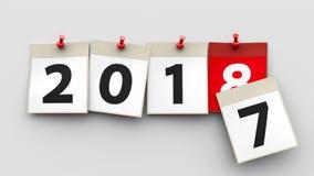 El calendario cubre 2018 Foto de archivo
