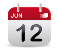 El calendario de junio se levanta Foto de archivo libre de regalías