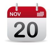 El calendario de nov se levanta Imagen de archivo libre de regalías