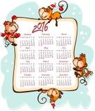 El calendario 2016 del Año Nuevo Imagenes de archivo