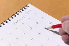 El calendario del Año Nuevo 2017 Imagenes de archivo