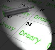 El calendario triste exhibe a Dull And Uneventful monótono ilustración del vector