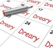 El calendario triste significa a Dull And monótono ilustración del vector