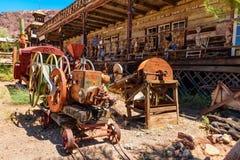 El CALICÓ, CA/SAN BERNANRDINO - 25 de mayo de 2017 - gente del unkown visita el calicó El calicó es un pueblo fantasma en San Ber Foto de archivo libre de regalías