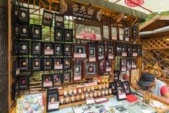 El callejón de la anchura hace compras en Chengdu Imágenes de archivo libres de regalías