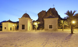 El Calvario (calvary) church in Lorca, Spain Royalty Free Stock Images