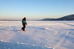 El calzar de la nieve Fotografía de archivo libre de regalías
