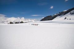 El calzar de la nieve Imagen de archivo libre de regalías