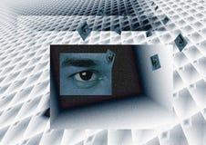 El cambiar a otra dimensión Imagen de archivo