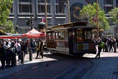 El cambio histórico del teleférico de Powell y de la calle de mercado, 1 Imagen de archivo