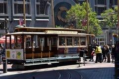 El cambio histórico del teleférico de Powell y de la calle de mercado, 4 Foto de archivo