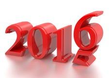 2015-2016 el cambio representa el Año Nuevo 2016 Foto de archivo libre de regalías