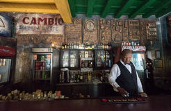 `El Cambio` traditional tourist bar in Camaguey, Cuba Stock Photo