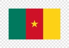 El Camerún - bandera nacional stock de ilustración