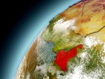 El Camerún de la órbita de Earth modelo Fotos de archivo libres de regalías