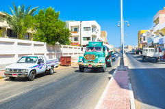 El camión colorido Fotografía de archivo libre de regalías