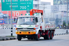 El camión con la grúa de Nim ve a la compañía 1988 de Seng Transport Fotografía de archivo