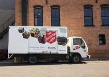 El camión del Ejército de Salvamento Foto de archivo